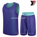 2017 de alta qualidade melhor preço de basquete jersey planície uniforme de basquete juventude uniformes escolares kits