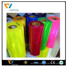 2016 красочные дунгуань блеск светоотражающего пластика светоотражающий материал листа PVC