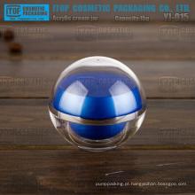 YJ-O15 15g design simples plástico duro 0,5 oz cosméticos creme bola cristalina jar