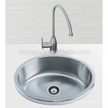 Stainless Steel SUS 304 Round single wash basin,bar sink, kitchen sink