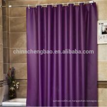 Poliéster impermeável roxo chuveiro chuveiro cortina conjuntos