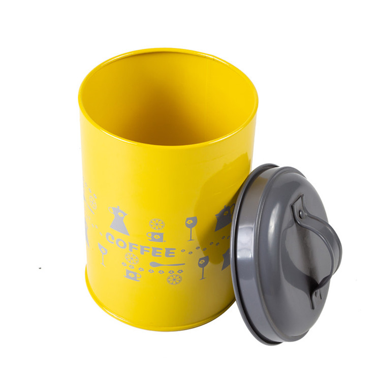 Yellow and Grey Canister Metal