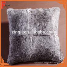 almohada china de la piel del conejo de Chinchilla del conejo para el sofá