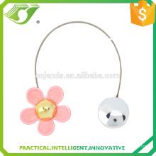 pink flower curtain tieback hooks / clicks
