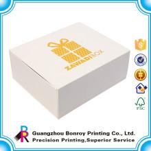 Großhandelsqualitätsgewohnheitslogo weiße Pappfachgeschenkbox