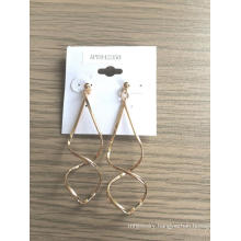 Wave Shaped Earrings with Metal Fashion Jewelry