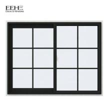 Komfortables Design Schiebefenster aus eloxiertem Aluminium mit gehärtetem Glas