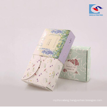 Customized recycled art paper box for hand soaps with printed logo spot UV