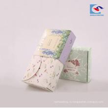 Подгонянная коробка бумаги искусства рециркулированные для мыло для рук с напечатанным логосом пятна UV