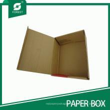 Kundenspezifischer Logo-Design-Kraftpapier-Versandkasten-Großverkauf