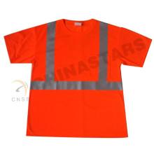 Wicking jersey de tela CSA ZA reflexivo de seguridad camiseta