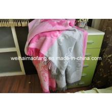 Pure Merino Wool Fringed Wool Throw (NMQ-WT043)