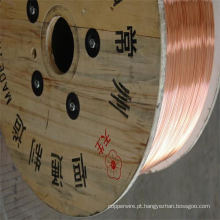 Fio de aço revestido de cobre ASTM CCS padrão para cabo coaxial de frequência