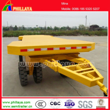 2 Axles 20FT Flat Bed Draw Bar Full Tractor Dolly Trailer