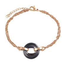 74404 wholesale italian stainless steel jewelry, gold latest ladies fashion bracelet