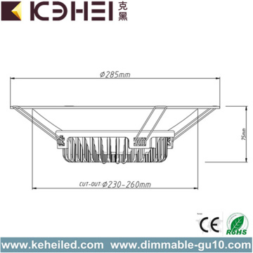 Badrum Installera LED Downlights 10 tum 30W
