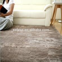 100% Polyester Gummi Bodenbelag Großhandel Teppich Teppichunterlage 100% Polyester bedruckte wasserdichte weiche zottigen Teppich