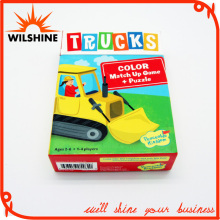 Customized Kids Paper Cardboard Puzzle Game Playing Cards (WPZ016)