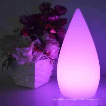 Agua gota conducida lámpara escritorio led recargable colores lámpara hogar decoración de la mesa en forma de OEM