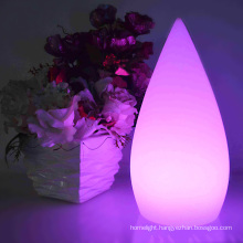 OEM shaped small water drop led table lamp colorful rechargeable led desk lamp home decoration