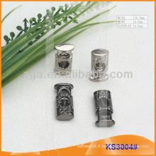 Bouchon de cordon métallique ou bascule pour vêtements, sacs à main et chaussures KS3004