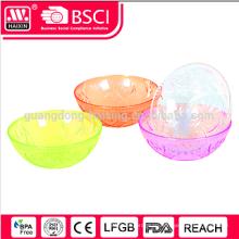 2015 Hotsales пластик прозрачный Салатник