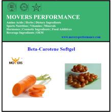 Hot Selling de alta calidad Beta-Caroteno Softgel