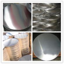 A1100 / A1050 / A1060 / A1070 Cercle en tôle d'aluminium H24 pour utilisation dans la cuisine