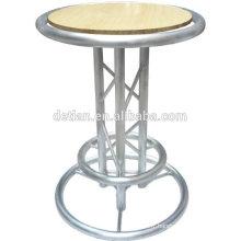 2016 Usine vente directe de haute qualité LED barre de cocktail table aluninum longue table de bar