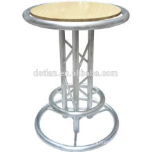 2016 Factory direct sell high quality LED cocktail bar table aluninum long bar table