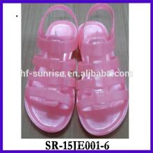 Nueva mujer Glitter trasparent jalea zapatos en 2015