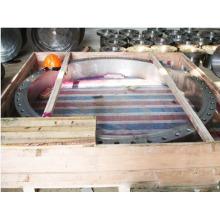 Aço carbono feito à máquina CNC do OEM que forja a flange grande