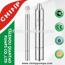 Bomba de água do poço de aço inoxidável 2inch / 3inch / 4inch
