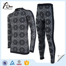 Men Ski Sous-vêtements Coolmax Winter Thermal Suit