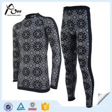 Ensemble de sous-vêtements thermiques sans couture de remise en forme faite sur commande chaude pour des hommes