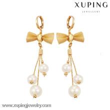 90095 Xuping Bow-knot Drop Earring Hot Stylish Pearl Earrings