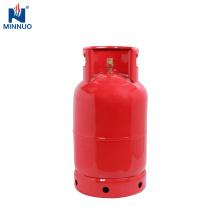 Dominica cilindro de propano 12.5 kg garrafa vermelha, venda quente e preço barato