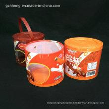custom print plastic tube cylinder box (round box)