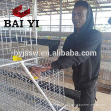 4 Tier Chicken Layer Battery Cage for Tanzania Poultry Farm