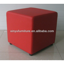 red faux leather pu pouf XY0983