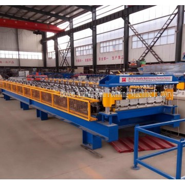 Tipo de soporte Trapezoidal Metal Roof Roll Forming Machine