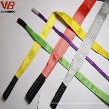 Sling de courroie plate sans fin de polyester de haute qualité de 1T pour des palettes / conteneurs de levage