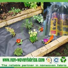 Tela ambiental de los PP para la tela negra no tejida del control de malas hierbas