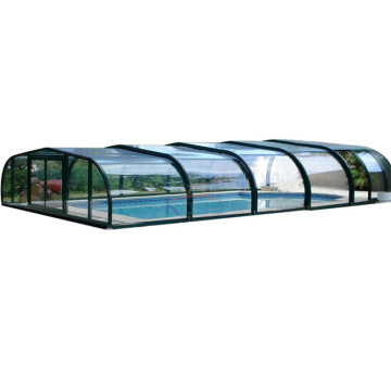 Mobilt tag Swimming Pool Polycarbonat Cover