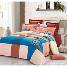 2015 Novo produto Plaid Baby Bedding conjuntos com capa de edredão fronha e folha plana
