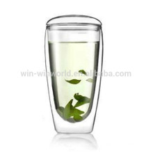 Drinking Glass Cup Factory Promotional Wide Mouth Transparent Ice Cappuccino