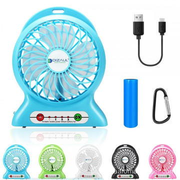 Bateria Recarregável Mini Hand Held Portable USB Fan
