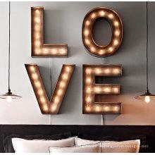 Birnen-Buchstabe der Qualitäts-LED für Dekoration und Werbung