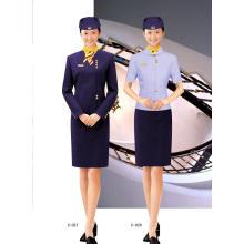 Vestuário feminino de trabalho com mangas curtas Aad compridas