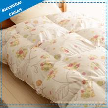 Roupa de cama 100% algodão edredão de penas de ganso e penas
